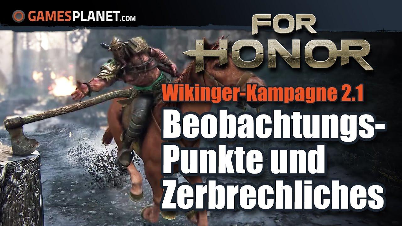 For Honor WikingerKampagne Alle BeobachtungsPunkte Und - Minecraft wikinger hauser