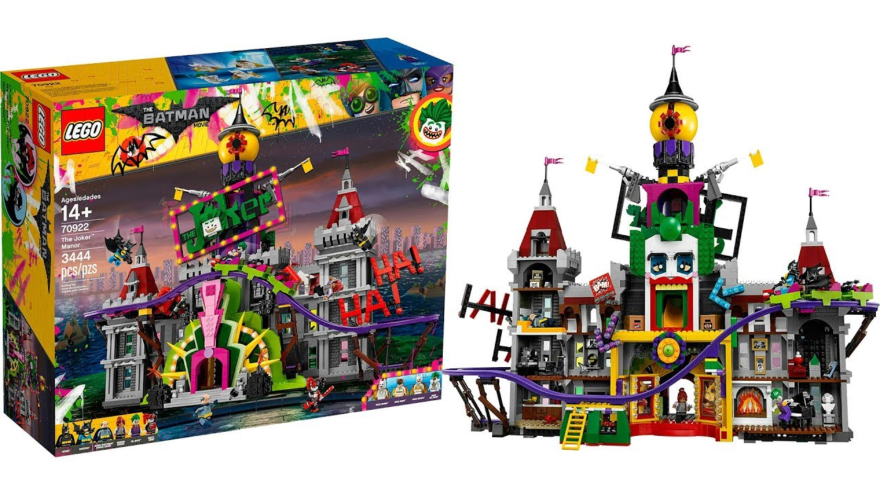0a6b96c42bce Lego Batman Movie 70922 The Joker Manor Set - YouTube