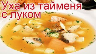 Рецепты из тайменя - как приготовить тайменя пошаговый рецепт - Уха из тайменя с луком за 60 минут
