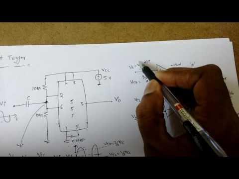 Schmitt Trigger Operation using 555 timer as an astable mode