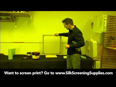 How to Screen Print - Applying Emulsion - Detailed instruction - Screen Printing 101 DVD pt 14