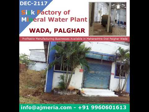 Sick Factory of Mineral Water Plant Profitable Manufacturing Businesses Available in Maharashtra Dis