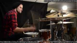 Chris Taylor - Pierce The Veil - The First Punch Drum Cover
