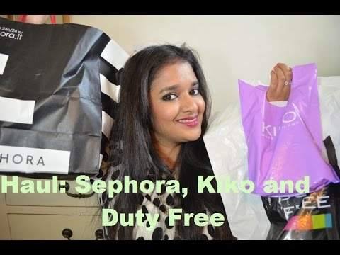 My Roman Holiday Haul: Sephora, Kiko and Duty Free Shoping