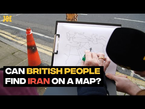 Can British people find Iran on a map?