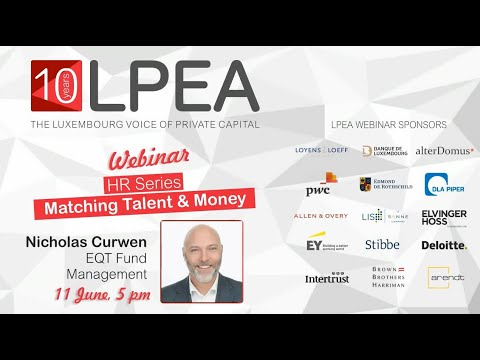 """Matching Talent & Money"" webinar with Nicholas Curwen (EQT)"
