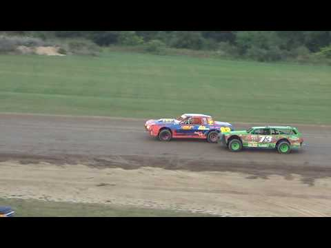 Street Stock Heat Race #1 at Crystal Motor Speedway, Michigan on 07-22-2017.