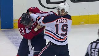 Oilers' Maroon uses 'MMA style take down' & eventually boxing in fight with Capitals' Wilson