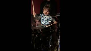 14 Month Old Child Drummer - Ozzie First Ever Jam Session A Musician In The Making?