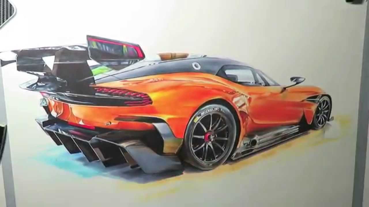 Aston Martin Vulcan Drawing Youtube