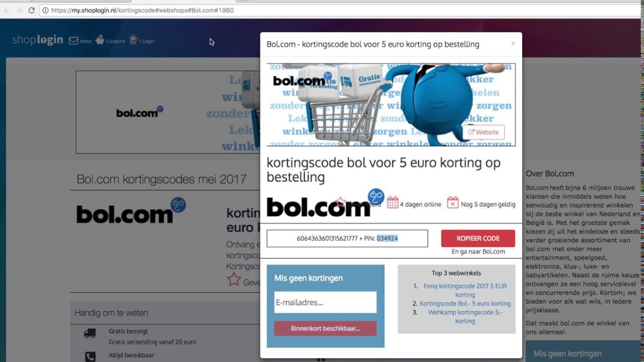 kortingscode bol com - 5 euro korting met cadeaukaart Bol