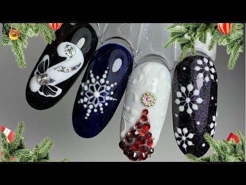 Дизайн ногти новогодний