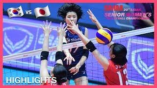 Korea vs Japan | Highlights | Semifinals | AVC Asian Senior Women's Volleyball Championship 2019
