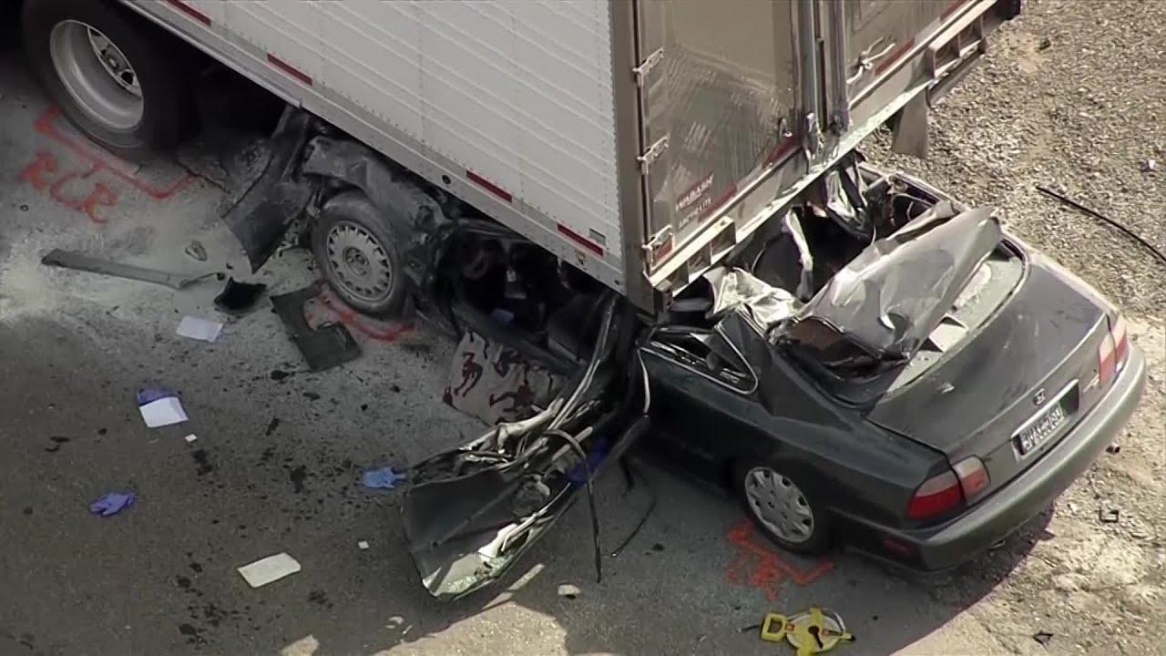 Raw Video: Scene Of Fatal Crash On I-680 In Fremont