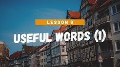 German for Beginners Level 2: Lesson 8 - Useful words (1)