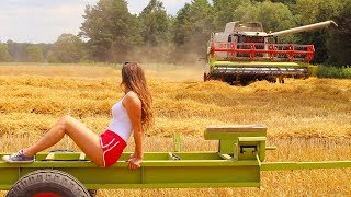 Ilonkowy Vlog - ŻNIWA 2019 | Holowanie kombajnu | Dziewczyny  na traktory [vlog#41]