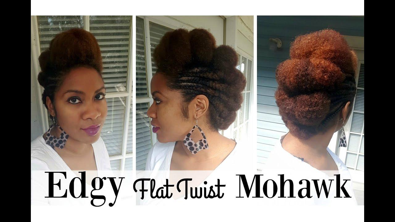 Flat Twist Mohawk On Natural Hair