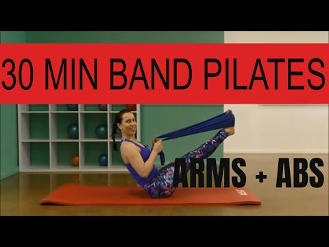 30 Min Theraband Workout for Arms and Abs Beginner to Intermediate