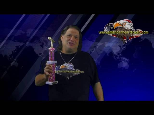 American Hearts Radio CEO Receives Trophy From Lina Jones Diamond Radio Network