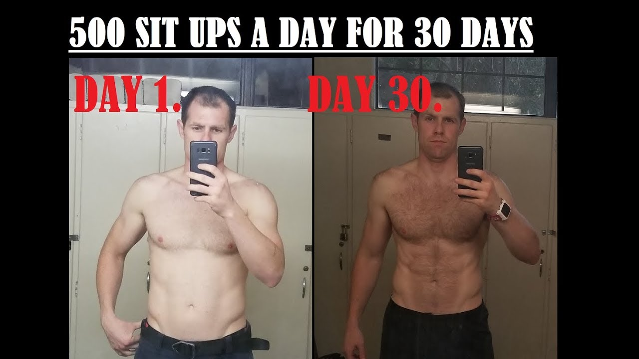 doing 500 sit ups a day