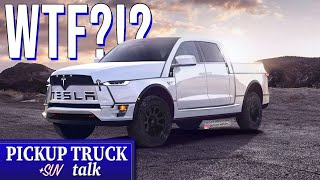 New Tesla Pickup Rendered with a Frunk - Yes, a FRUNK!