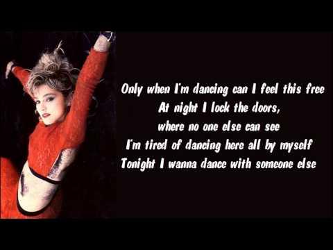 Madonna - Get Into The Groove Karaoke / Instrumental with lyrics on screen