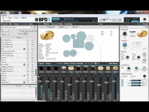 FxPansion BFD3 kits - DEMO - YouTube