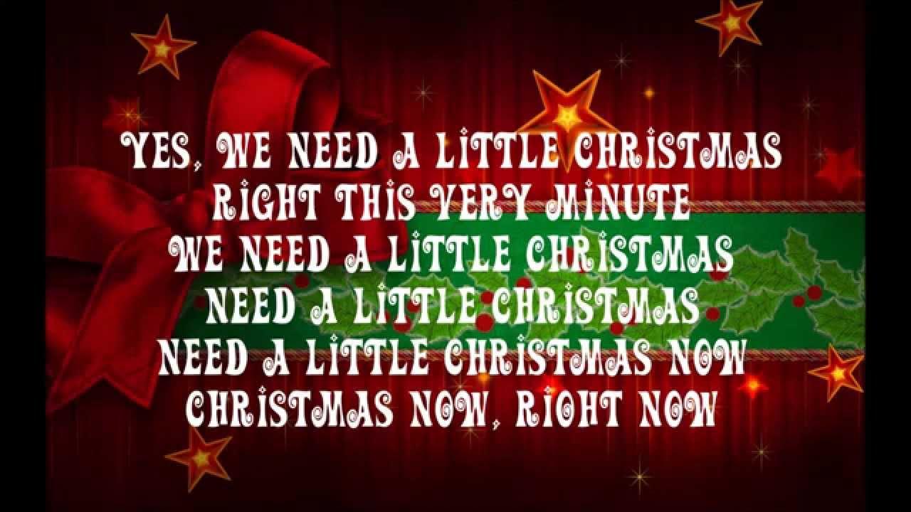 We Need a Little Christmas - YouTube