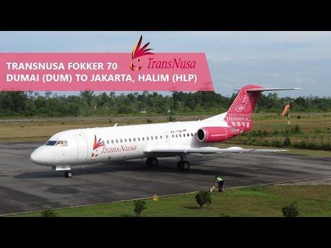 Transnusa 8B-883 Fokker 70 Dumai (DUM) To Halim (HLP)
