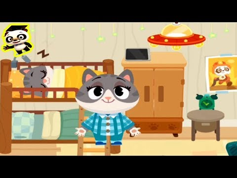 Dr Panda Town - Episode 2 | Kitty Cat Daily Routines in the House | Bathing, Toilet, Breakfast, Fun