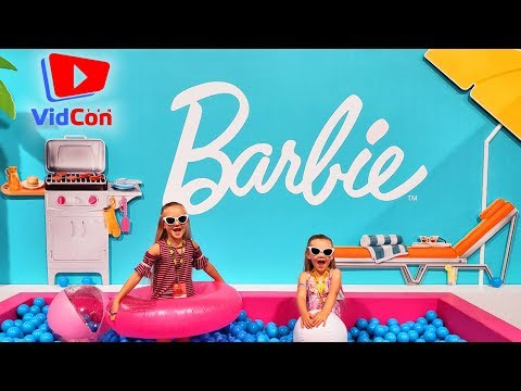 Leaving Mom and Baby Home for Vidcon 2019!! Swimming in Barbie Ball Pit Pool!