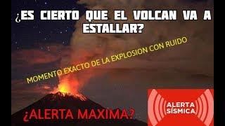 Explosión del Popocatepetl, VIDEO DEL MOMENTO EXACTO  ¿CORREMOS PELIGRO? thumbnail