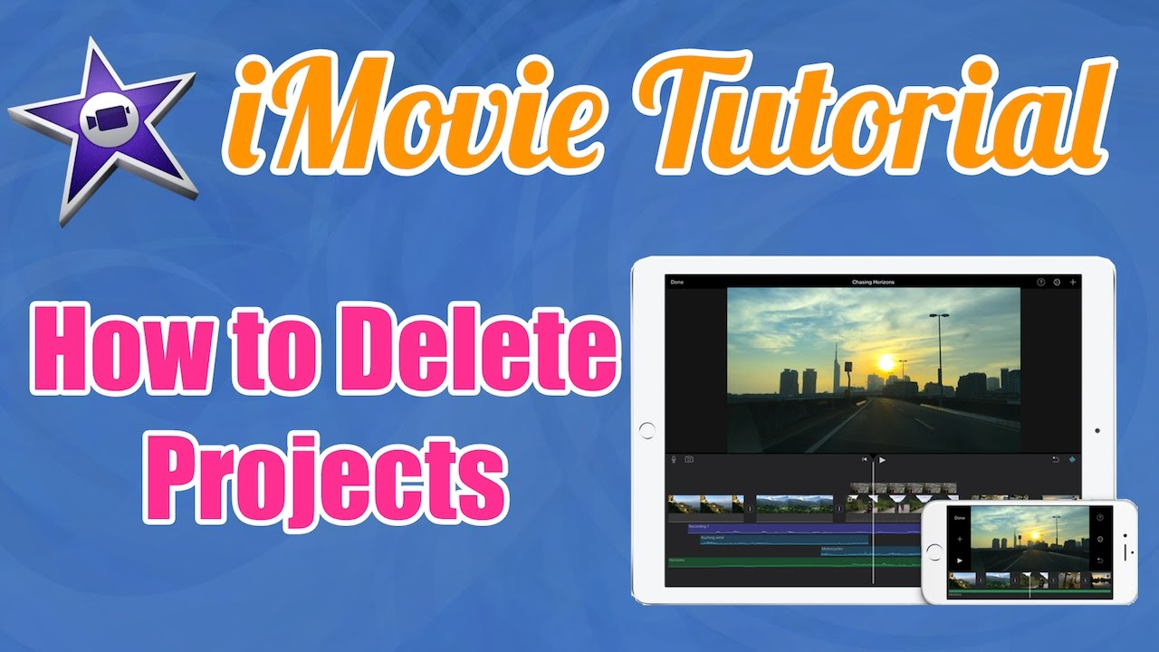 how to delete imovie projects