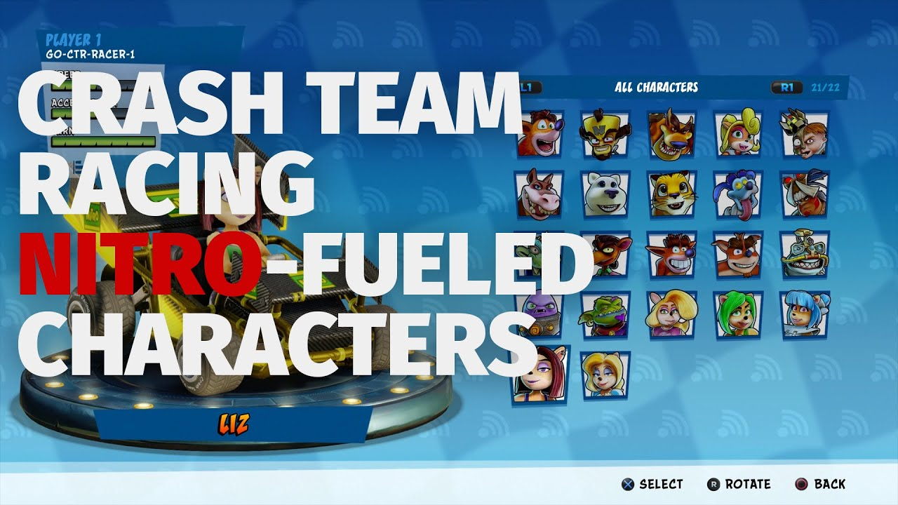 Crash Team Racing Nitro-Fueled - All Racers   E3 2019 Build