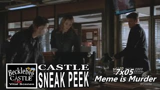 "Castle 7x05  Sneak Peek  # 2  ""Meme is Murder"" (HQ) 