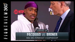 BRONER PRE-FIGHT INTERVIEW RECAP! MADE TO CUT BEARD! PAC VS BRONER FIGHT NIGHT QUICK HITS! SHO PPV!
