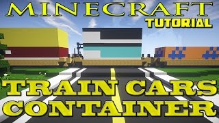 Minecraft Freight Train Car Tutorial (Cargo Container Car)
