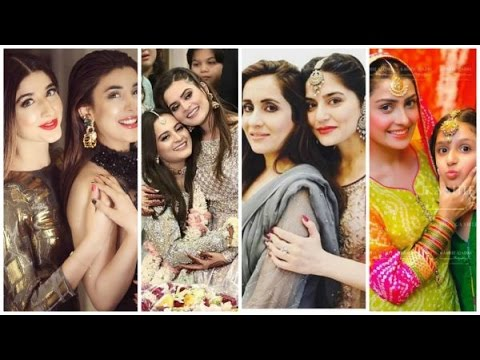 Top 12 Pakistani Actresses with their Beautiful Sisters - YouTube