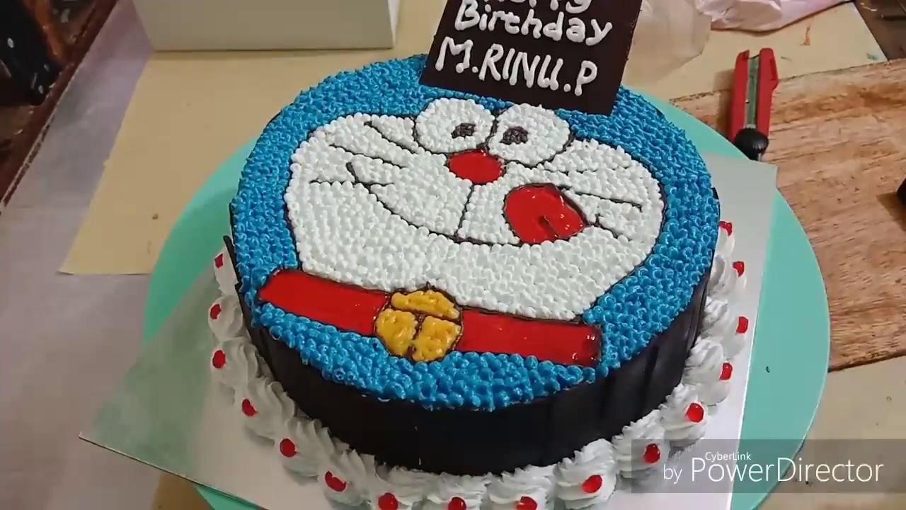 3 Membuat Kue Ulang Tahun Doraemon Youtube