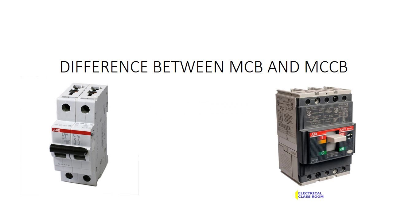 Earth Leakage Relay Wiring Diagram Difference Between Mcb And Mccb Youtube