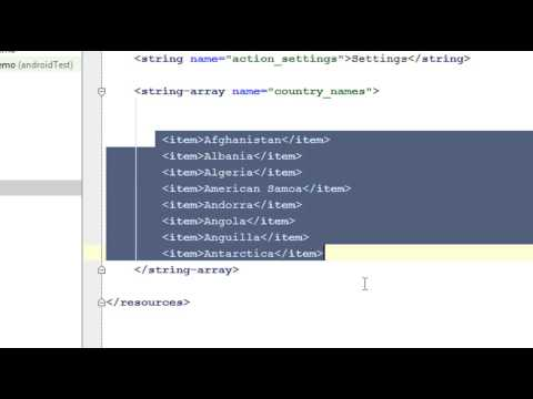 Android Studio Tutorial - 10 - Working with AutoCompleteTextView