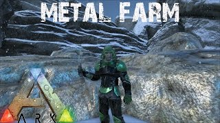 ARK Survival Evolved - Ultimate Metal Farming Base
