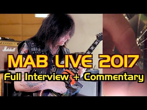 Michael Angelo Batio Live 2017!  Full interview + Commentary