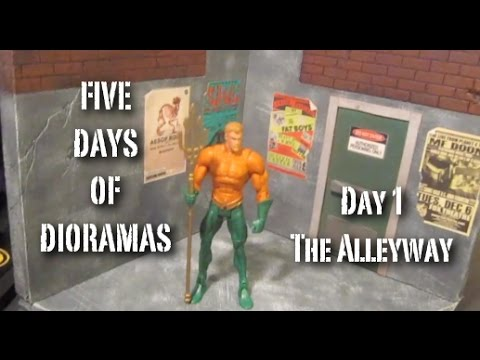Custom Alleyway Action Figure Diorama (5 Days of Dios Day 1) - YouTube