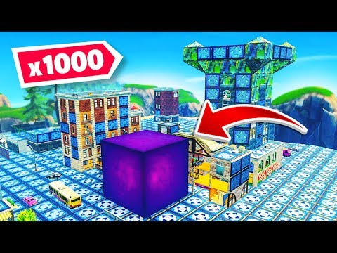 The CUBE + 1000 BOUNCE PADS in Tilted Towers in Fortnite