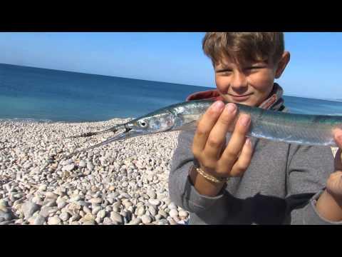 Jack Sawyer Catches Garfish At Chesil Beach