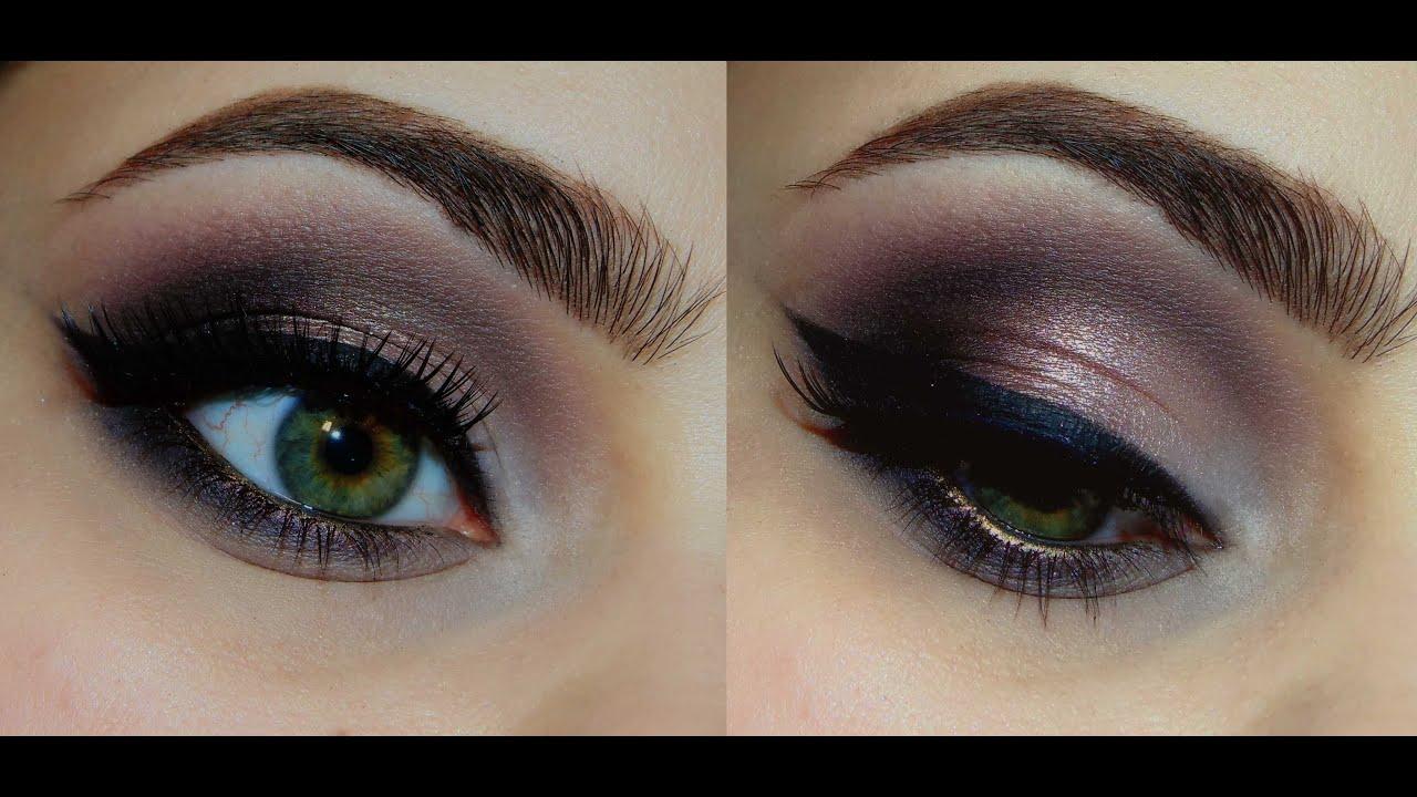 Розово-золотой вечерний макияж с палеткой Makeup Revolution ICONIC3