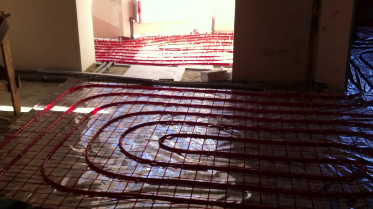 How to make a warm floor from heating Warm floor water. Installation of heated floor 64