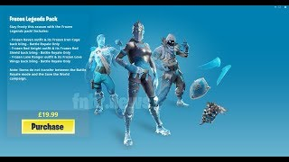 FORTNITE NEW PACK GLACE WITH 3 SKIN LEGENDAIRE A 25EUROS - PRESENTATION