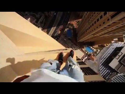 Dubai building jump will take your breath away